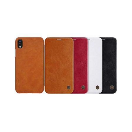 قیمت خرید کیف چرمی نیلکین گوشی آیفون iPhone XR مدل Nillkin Qin
