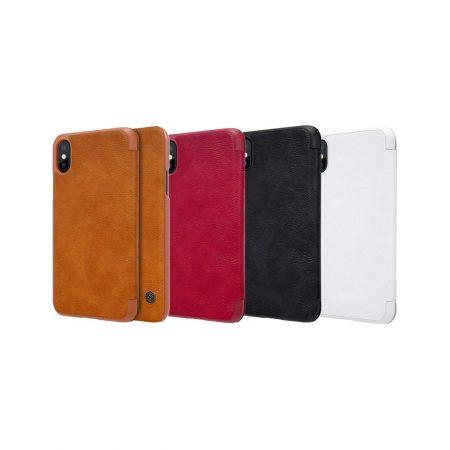 قیمت خرید کیف چرمی نیلکین گوشی آیفون iPhone XS مدل Nillkin Qin