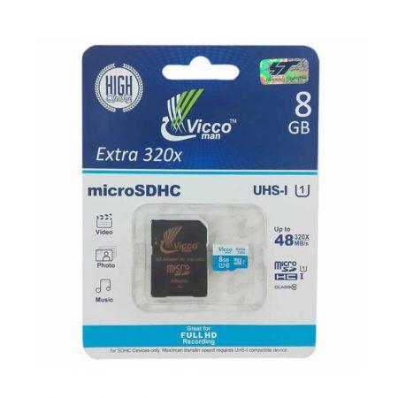 قیمت خرید کارت حافظه ویکو من کلاس 10 ظرفیت 8 گیگابایت