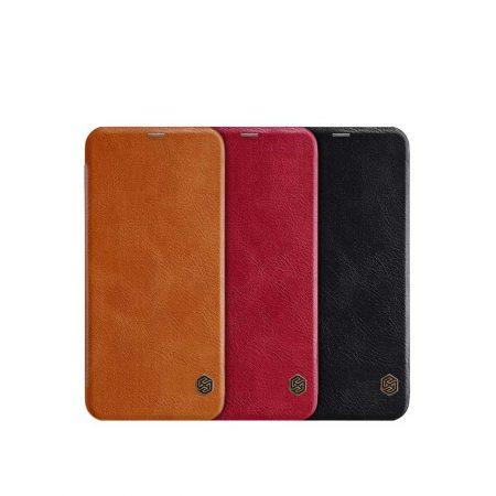 قیمت خرید کیف چرمی نیلکین گوشی سامسونگ Samsung J6 Plus مدل Nillkin Qin