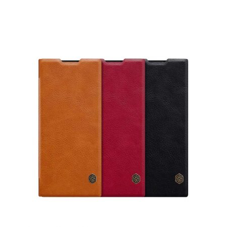 قیمت خرید کیف چرمی نیلکین گوشی سونی Sony XA2 Plus مدل Nillkin Qin