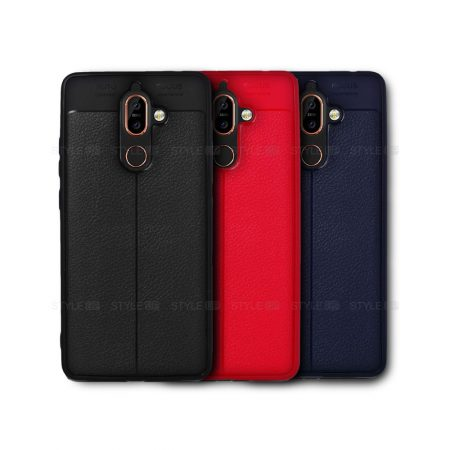 خرید کاور چرمی اتو فوکوس گوشی نوکیا Nokia 7 plus