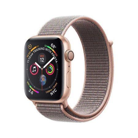 قیمت خرید ساعت هوشمند اپل واچ سری 4 لوپ صورتی Apple Watch 40mm Gold Case Pink Sport Loop