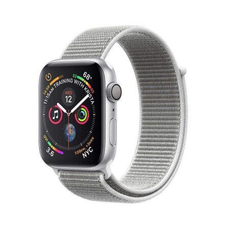 قیمت خرید ساعت هوشمند اپل واچ سری 4 لوپ نقره ای Apple Watch 40mm Silver Case Seashell Loop