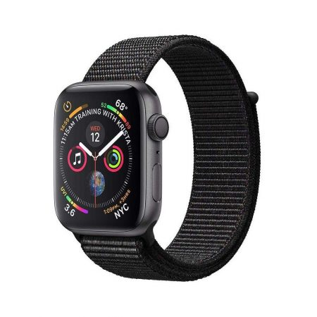 قیمت خرید ساعت هوشمند اپل واچ سری 4 لوپ مشکی Apple Watch 40mm Gray Case Black Sport Loop