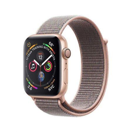 قیمت خرید ساعت هوشمند اپل واچ سری 4 لوپ صورتی Apple Watch 44mm Gold Case Pink Sport Loop