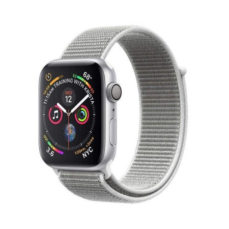 قیمت خرید ساعت هوشمند اپل واچ سری 4 لوپ نقره ای Apple Watch 44mm Silver Case Seashell Loop