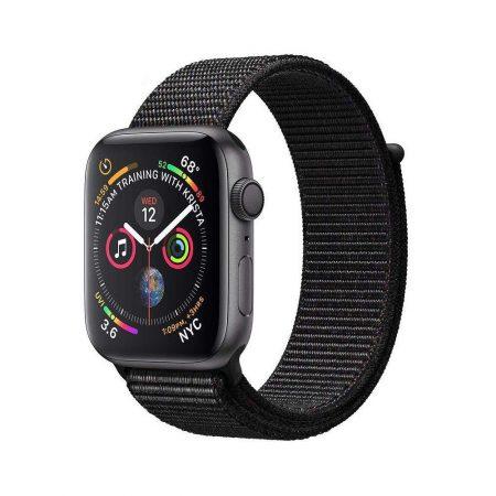 قیمت خرید ساعت هوشمند اپل واچ سری 4 لوپ مشکی Apple Watch 44mm Gray Case Black Sport Loop