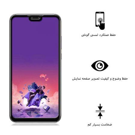 قیمت خرید محافظ صفحه شیشه ای بوف 5D Privacy گوشی هواوی Huawei Y9 2019