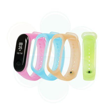 خرید بند مچ بند شیائومی Mi Band 3 مدل سیلیکونی شفاف