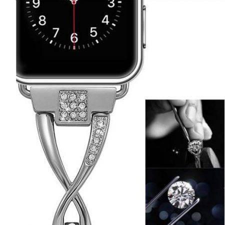 قیمت خرید بند اپل واچ Apple Watch 38/40mm مدل نگین دار کوتتچی W18