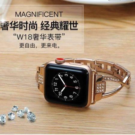 قیمت خرید بند اپل واچ Apple Watch 42/44mm مدل نگین دار کوتتچی W18