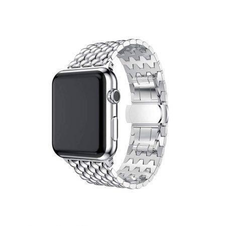 خرید بند اپل واچ Apple Watch 42/44mm مدل فلزی طرح دراگون