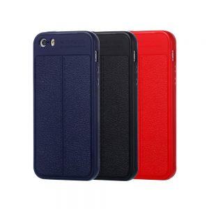 خرید کاور طرح چرمی اتو فوکوس گوشی آیفون iPhone SE / 5s