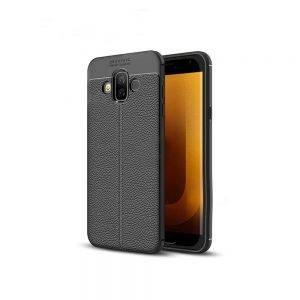 خرید کاور طرح چرمی اتو فوکوس گوشی سامسونگ Samsung Galaxy J7 Duo