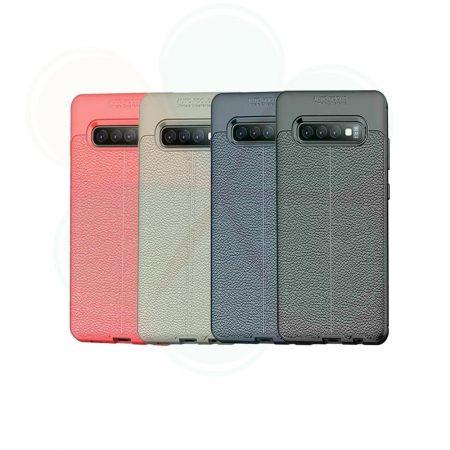خرید کاور طرح چرمی اتو فوکوس گوشی سامسونگ Samsung Galaxy S10 Plus