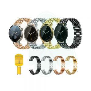 خرید بند ساعت Motorola Moto 360 46mm 2nd Gen مدل استیل زنجیری