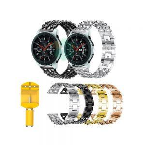 خرید بند ساعت هوشمند سامسونگ Galaxy Watch 46mm مدل استیل زنجیری