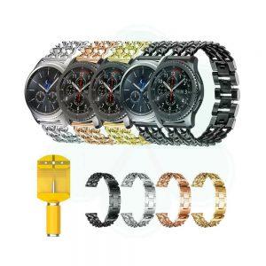 خرید بند ساعت سامسونگ Gear S3 مدل استیل زنجیری