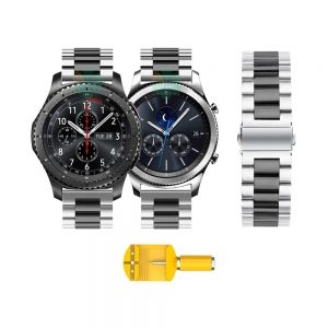 خرید بند ساعت سامسونگ Gear S3 مدل استیل دو رنگ