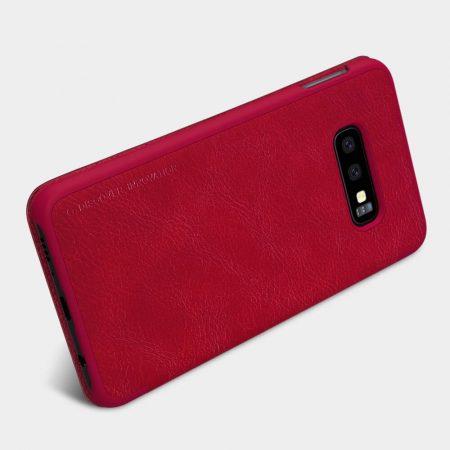 خرید کیف چرمی نیلکین گوشی سامسونگ Samsung Galaxy S10e مدل Nillkin Qin