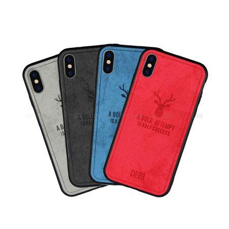 خرید قاب گوشی آیفون iPhone X / XS پارچه ای طرح گوزن