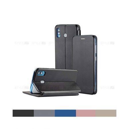خرید کیف کلاسوری چرمی گوشی سامسونگ Samsung A20