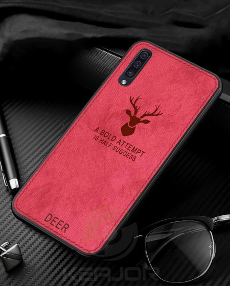 خرید قاب گوشی سامسونگ Galaxy A50 پارچه ای طرح گوزن