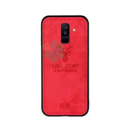 خرید قاب گوشی سامسونگ Galaxy A6 Plus 2018 پارچه ای طرح گوزن