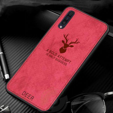 خرید قاب گوشی سامسونگ Galaxy A70 پارچه ای طرح گوزن