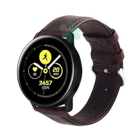 خرید بند ساعت سامسونگ Galaxy Watch Active چرمی Genuine Leather