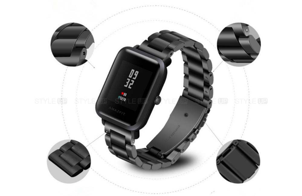 خرید بند ساعت شیائومی Xiaomi Amazfit Bip استیل 3Pointers