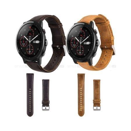 خرید بند ساعت شیائومی Amazfit Stratos مدل چرمی Genuine Leather