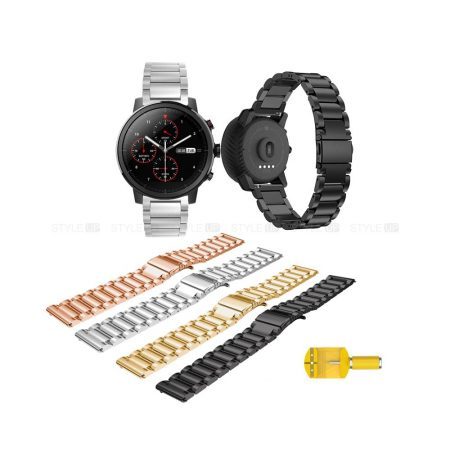 خرید بند استیل ساعت شیائومی Amazfit Stratos مدل 3Pointers