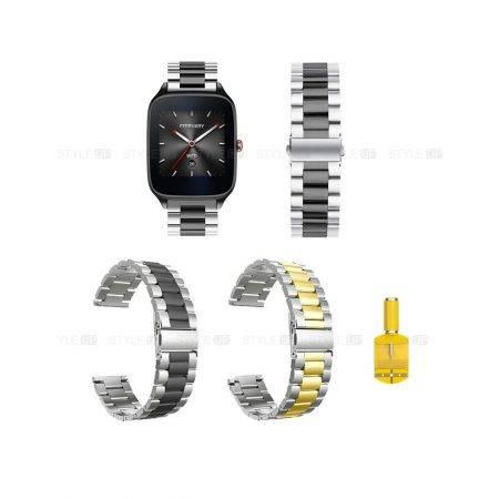 خرید بند ساعت ایسوس ZenWatch 2 WI501Q مدل استیل دو رنگ