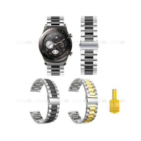 خرید بند ساعت هواوی Huawei Watch 2 Classic مدل استیل دو رنگ