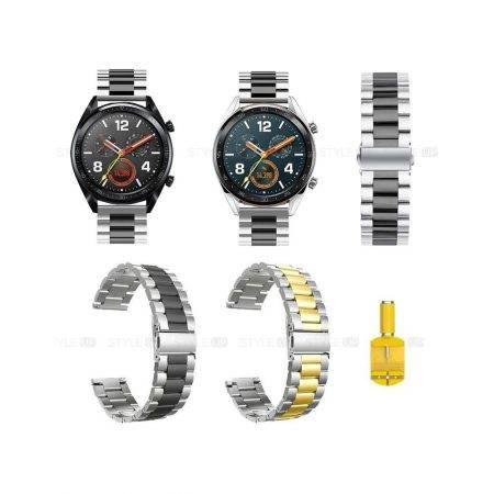 خرید بند ساعت هواوی Huawei Watch GT مدل استیل دو رنگ