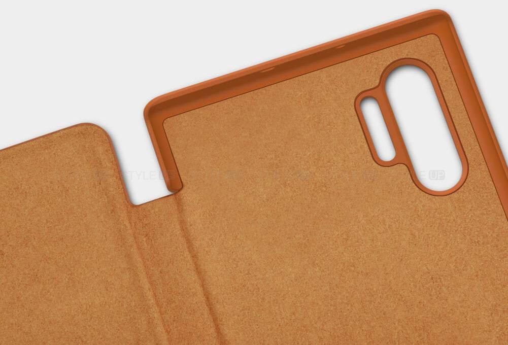 خرید کیف چرمی نیلکین گوشی سامسونگ نوت 10 پلاس مدل Qin