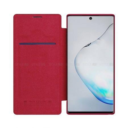خرید کیف چرمی نیلکین گوشی سامسونگ Note 10 Plus مدل Qin
