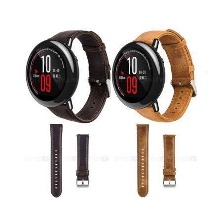 خرید بند چرمی ساعت شیائومی Amazfit Pace مدل Genuine Leather