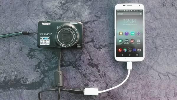 اتصال دوربین به گوشی با کابل OTG