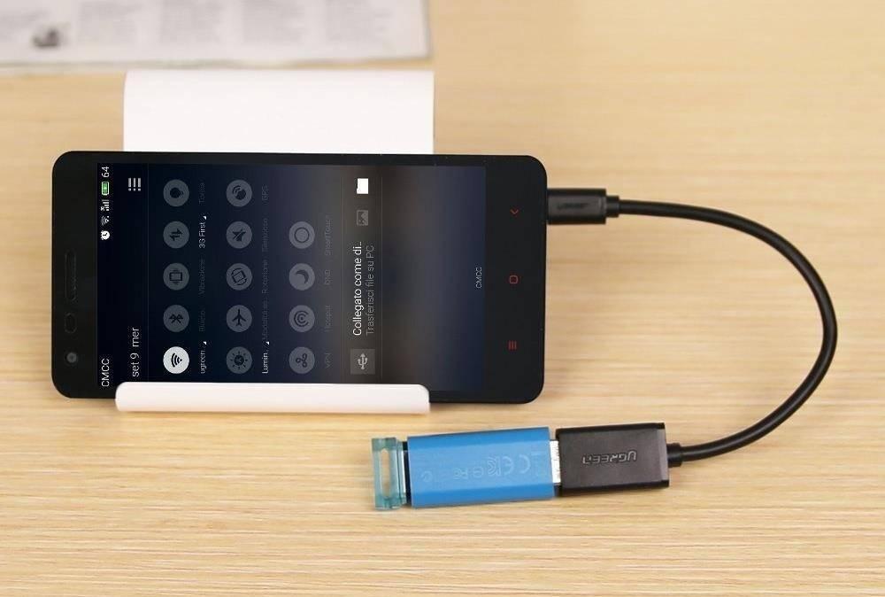اتصال به گوشی از طریق کارت OTG