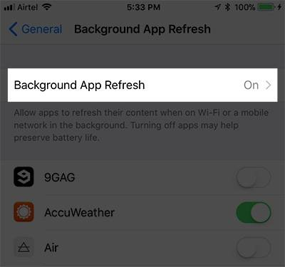 Background App Refresh