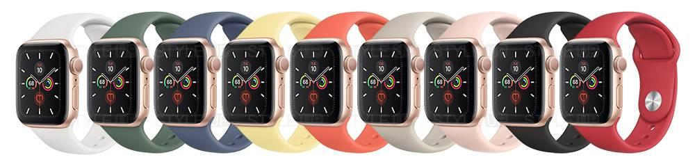 ساعت اپل واچ 5 آلومینیوم بند اسپرت Apple Watch 44mm Gold