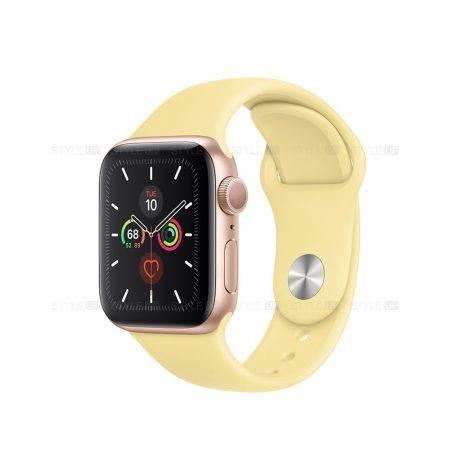 خرید ساعت اپل واچ 5 آلومینیوم بند اسپرت Apple Watch 44mm Gold