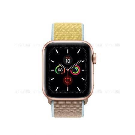 خرید ساعت اپل واچ 5 آلومینیوم بند اسپرت لوپ Apple Watch 44mm Gold