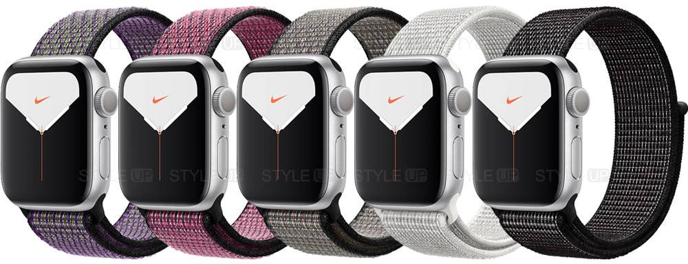 خرید ساعت اپل واچ 5 آلومینیوم نایک اسپرت لوپ Apple Watch 44mm Silver