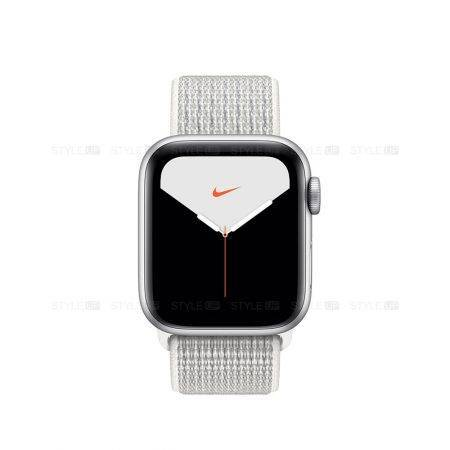 خرید ساعت اپل واچ 5 آلومینیوم نایک اسپرت لوپ Apple Watch 44mm Silverv