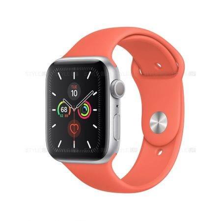 خرید ساعت اپل واچ سری 5 آلومینیوم بند اسپرت Apple Watch 44mm Silver