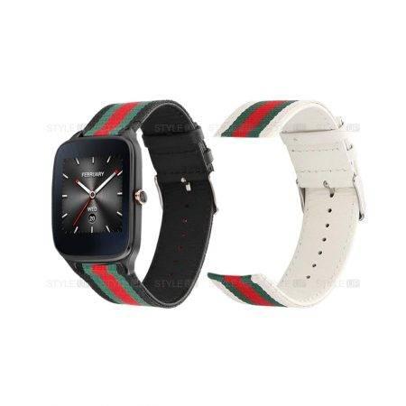 خرید بند ساعت هوشمند ایسوس زن واچ 2 WI501Q طرح GUCCI